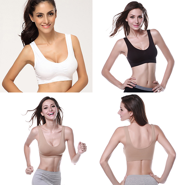 Comfortable Women Cozy Seamless Bras Tops Exercise Casual Underwear Strench Costume Fitness Vest Bra Top Slim M L XL