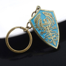 Game Dark Souls Keychain Golden Wing Crest Shield Key Chain for Women Men Car Keyring Pendant Jewelry game metro 2033 keychain letter metro exodus skull dog tag pendant key chain for men car keyring llaveros jewelry
