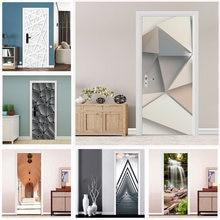 Обои для двери современный модный геометрический дизайн Декор