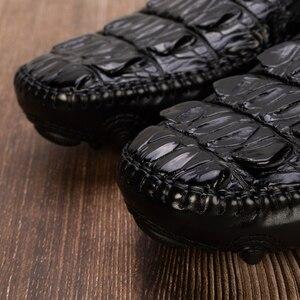 Image 4 - Zapatos de cocodrilo para hombre, vestido de piel auténtica, marca de alta calidad, diseño Original, fiesta, boda, zapatos de ocio Casual