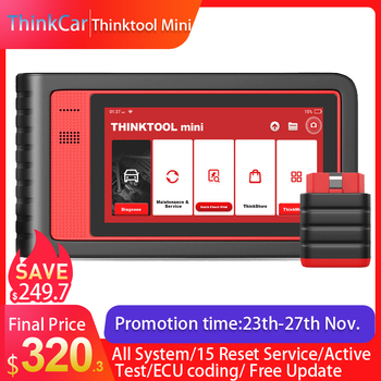 Thinktool mini  ECU Coding OBD2 Scanner Professional Full system Automotive Scan Tool Active Actuation test IMMO SRS ABS launch x431 v 8 inch bluetooth wi fi full system car diagnostic tool support ecu coding x 431 v mini auto scanner obd2 scanner