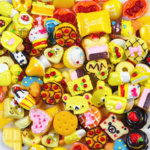 10pcs Miniature Mini Food Fruits and Vegetables Kitchen Toys Simulated Ice Cream Toy for Doll Children Kids Kitchen Girls Toys E