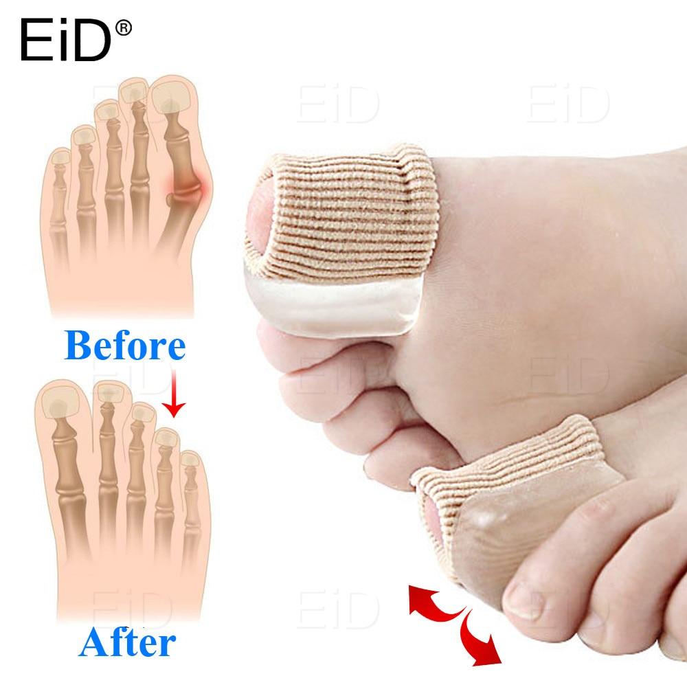 EiD Fabric Silicone Gel Toe Separator Bunion Splint Hallux Valgus Orthosis Correction Overlapping Spreader Foot Protector Insert