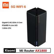 El más nuevo enrutador Xiaomi AX1800 Wifi 6 Gigabit 2,4G 5GHz enrutador de banda Dual de 5 núcleos OFDMA de alta ganancia 2 antenas Mi enrutador más amplio AX18005G