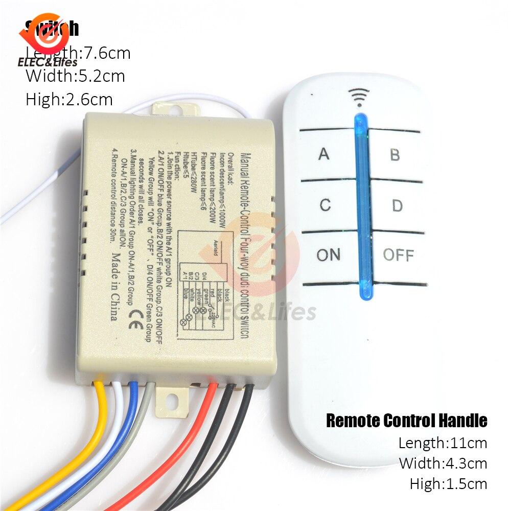 Светодиодный светильник с дистанционным управлением, 220 В перем. Тока, RF