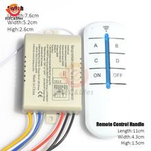Télécommande numérique sans fil pour plafonnier, 4 voies, AC 220V RF, interrupteur marche/arrêt, panneau de commande pour ventilateur de plafond