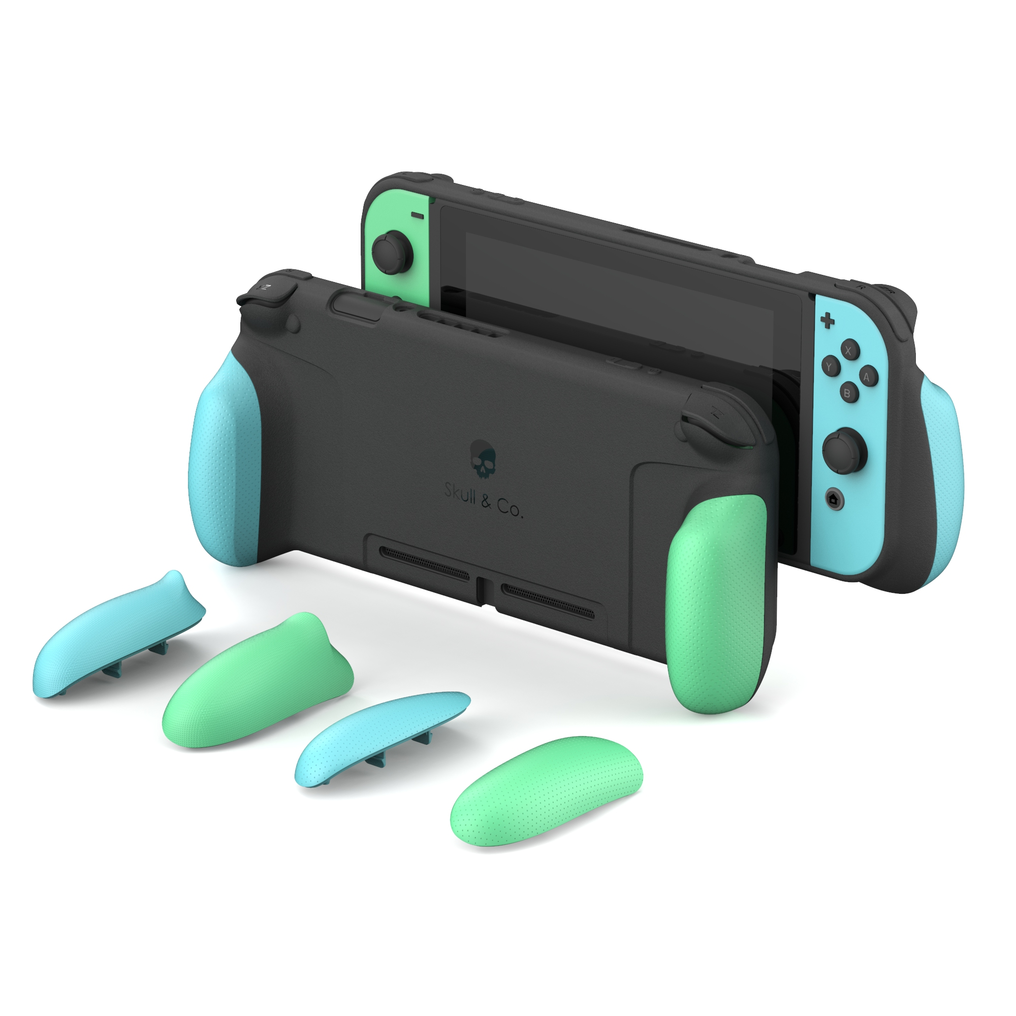 Skull & Co. Animal Crossing GripCase Protective Case With Replaceable Grips For Nintend Nintendo Switch