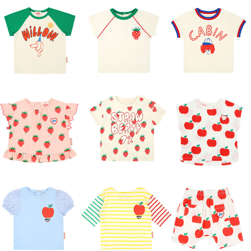 Kids T Shirts 2020 Bebe Brand New Summer Boys Girls Fashion Print Short Sleeve T Shirts Baby Child Cotton Tops Tess Clothes