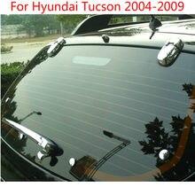Abs chrome janela traseira limpador bico capa guarnição 12 peças para hyundai Tucson2004-2006 2007-2009 -2011 2012, estilo do carro-tampas