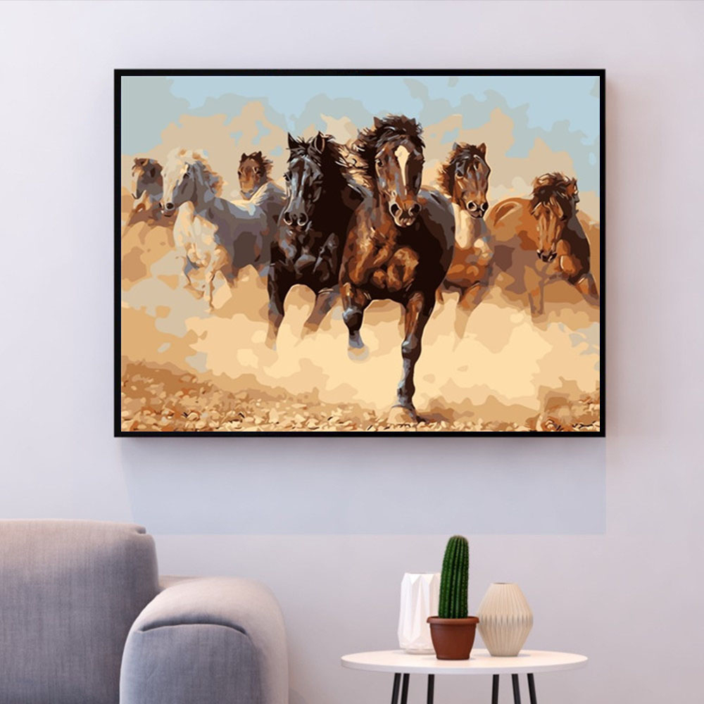 HUACAN Picture By Numbers Horse Gift Home Decor Paint By Number Animals DIY Hand Painted Wall Art Drawing Acrylic