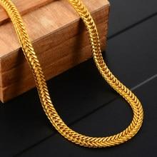Homens colar de corrente de cobra de ouro clássico vintage colar de corrente longa mulher diy colar hip hop jóias fazendo acessórios