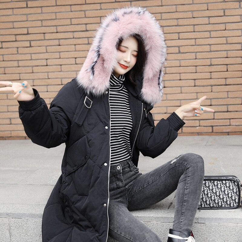 Women's Down Jacket Winter White Duck Down Coat Women Plus Size Warm Parka Korean Long Puffer Jackets 8905 YY1287