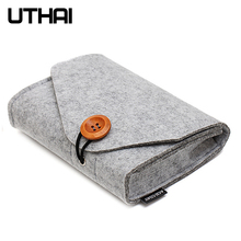 UTHAI T29 Portable 2 5 #8217 HDD Case Storage Bag For Macbook Charger Mouse Mobile Power Bank Earphone Digital Accessories Protect Bag cheap CN(Origin) Fiber 160mm*120mm*30mm