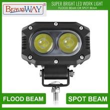 BraveWay 48W LED Headlight Working Light for OffRoad Cars SUV 12V 24V LED ATV Light Off Road Accessories 4x4 niva UAZ Headlamps