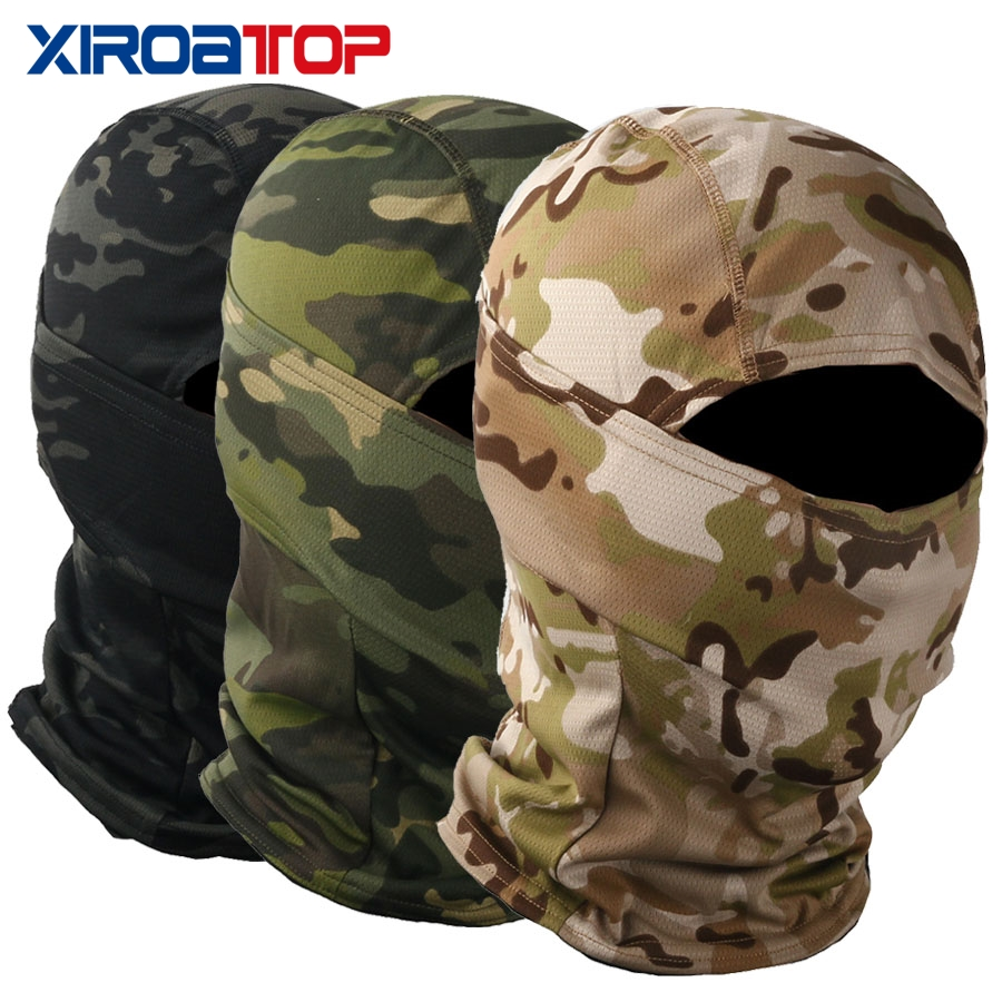 Men Women Military Camouflage Balaclava Full Face Wargame Cycling Hunting Army Bike Military Helmet Liner Tactical Airsoft Cap