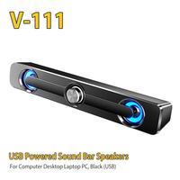 Rondaful-Barra de altavoz para ordenador, altavoz estéreo de graves con cable USB, sonido envolvente para PC, portátil, teléfono, tableta, MP4