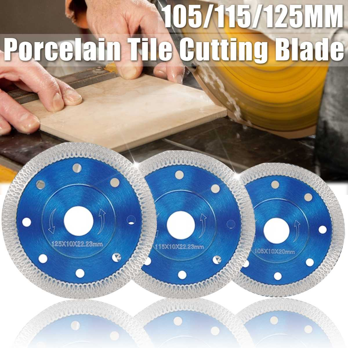 105/115/125mm Microcrystalline Vitrified Ceramic Tiles Diamond Saw Blades Porcelain Tile Cutting Blades Angle Grinder Blade