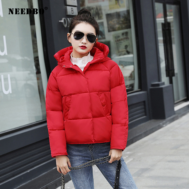 NEEDBO Women Down Jacket Hooded Down Coat White For Women Slim Down Jackets Ultra Light Down Coat Winter Oversize Parka Doudoune
