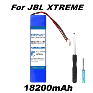 LOSONCOER 18200mAh GSP0931134 for Original JBL XTREME Xtreme Battery Speakers Battery Free tools Stand Holder With Random gift(China)