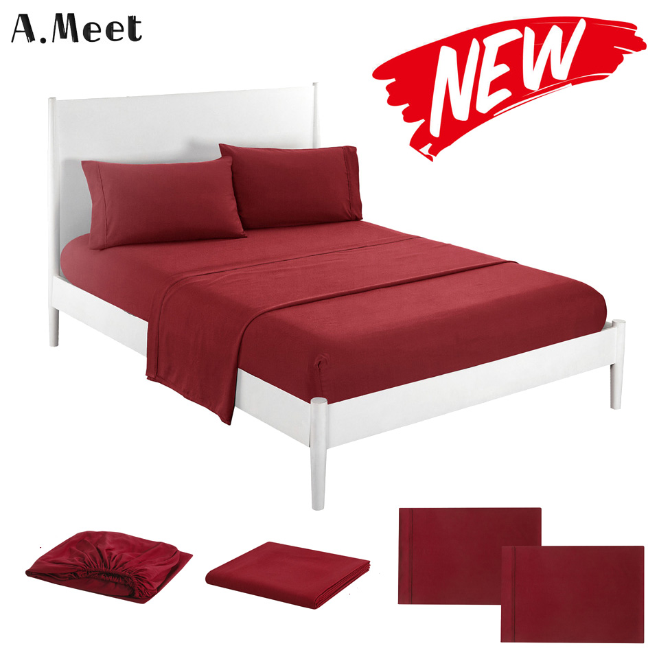 Polyester Flat Bed Sheet Set 4 Pcs Twin King Fitted Sheet Set Queen Twin Mattress Cover And Pillowcase Sets Bed Adult Grey White Sheet Aliexpress