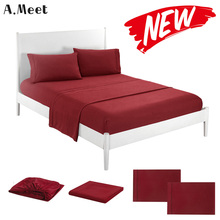 цена Polyester Flat Bed Sheet Set 4 pcs Twin King Fitted Sheet Set Queen Twin Mattress Cover And Pillowcase Sets Bed Adult Grey White онлайн в 2017 году