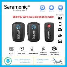 Microphone-System Lavalier-Studio Nikon Saramonic Blink500 Wireless Interview DSLR Sony