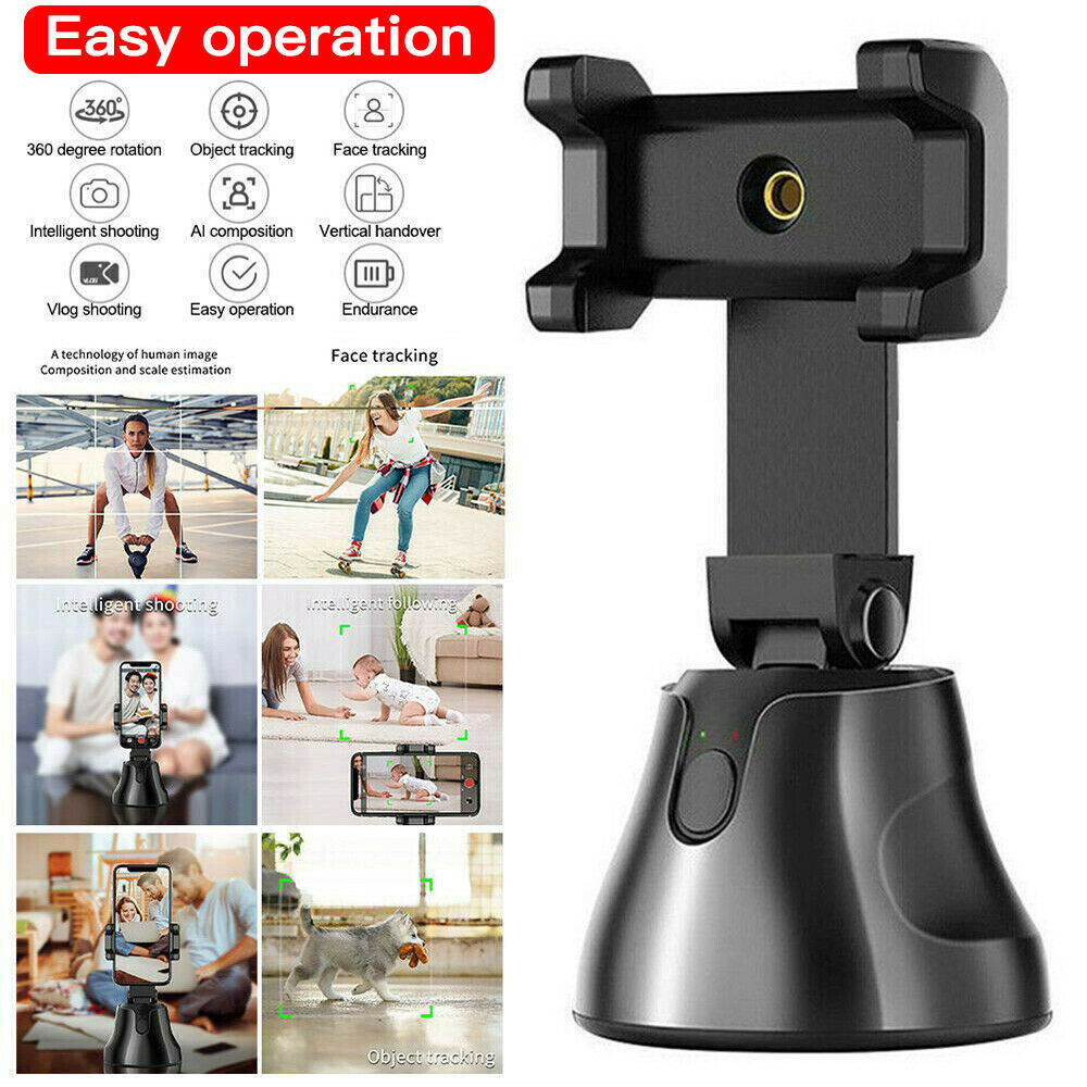 Auto Tracking Smart Shooting Phone Holder  Smartphone Selfie Shooting Gimbal Object 360 Rotation Auto Face Tracking Holder