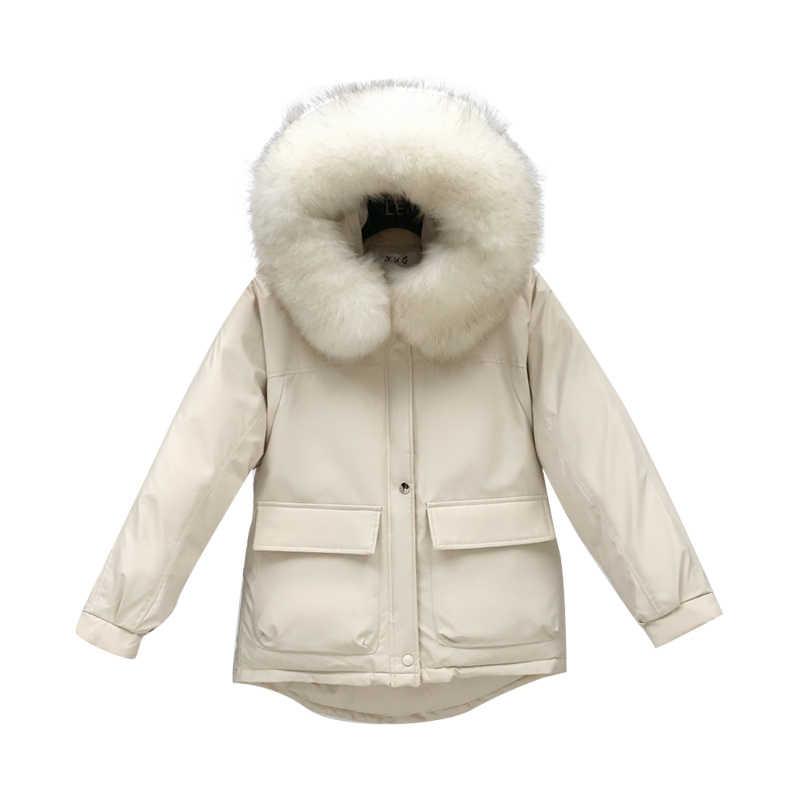 Kış kürk Hoodded ceket kadın kıyafetleri 2019 yastıklı sıcak aşağı pamuk parka ceket kadın Casaco Feminino Hiver bayanlar 819