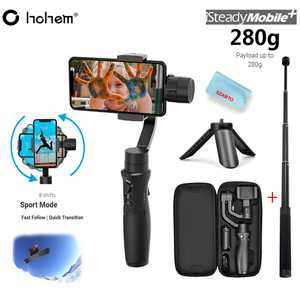 Hohem 3-axis handheld gimbal stabilizer payload 280g for smartphone Pk Zhiyun Smooth 4 iSteady Mobile Plus