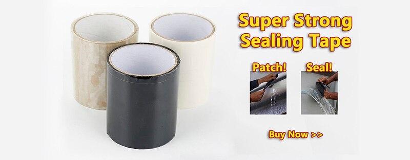 3 м/1,5 м x 2,5 см супер прочная волокнистая водонепроницаемая лента для остановки протечек уплотнительная ремонтная лента производительность самофиксация клейкая лента Fiberfix