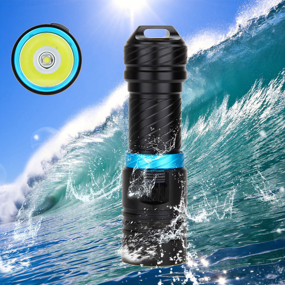 IPX8 Waterproof Dive Underwater 200 Meter Professional Diving Flashlight Torches White/Yellow Lamp Dive Light Camping Lanterna 5