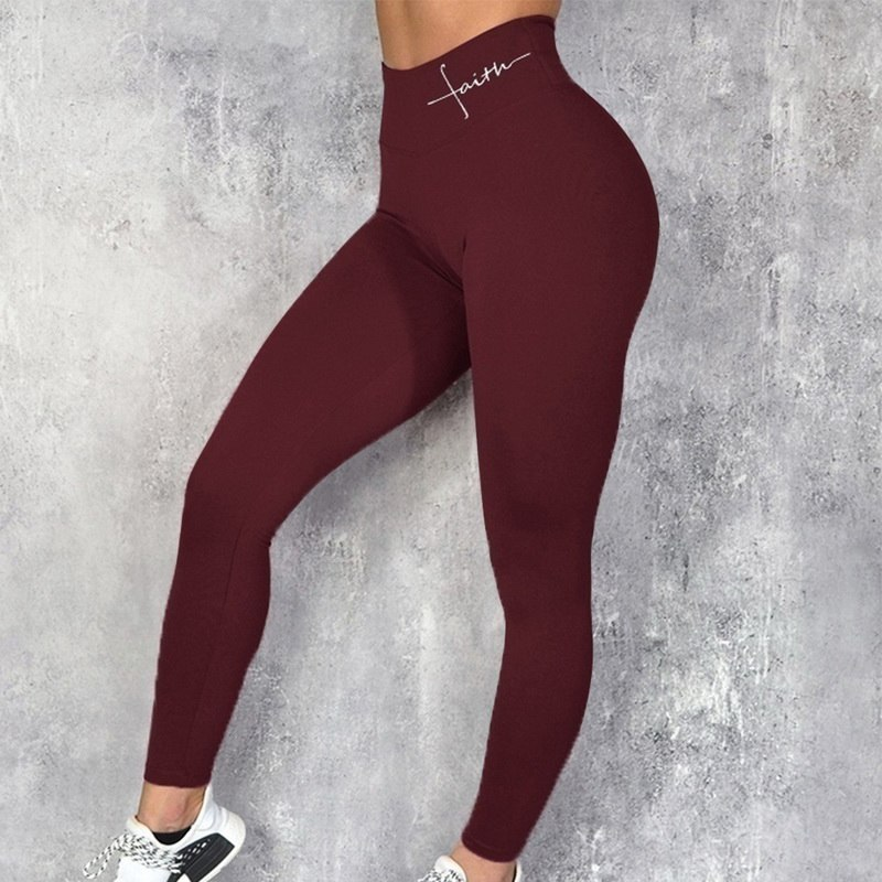 Slim Leggings High-Waist Pencil-Pants Push-Up Polyester title=