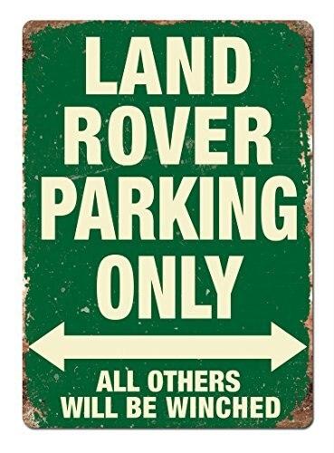 Land Rover Estacionamento Só Verde Sinais De Metal Do Vintage Retro Placa Placa de Parede Home Decor Wall Art