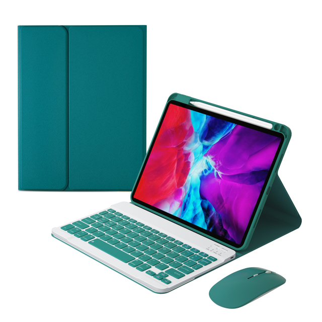 Magnetic Tablet Case For IPad 11 2019 2020 2018 Air 4 Keyboard Mouse Case For IPad Air 4 10.9 Cover With Pencel Holder