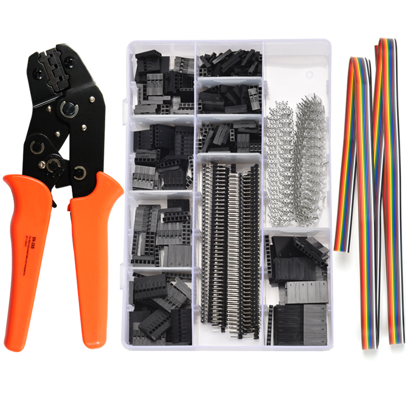 Tool SN Ferrule Pliers Crimp Connector Crimper 28B Crimping Kit Terminal Wire Dupont Tool Set 1550Pcs Terminals Clamp Mini Hand