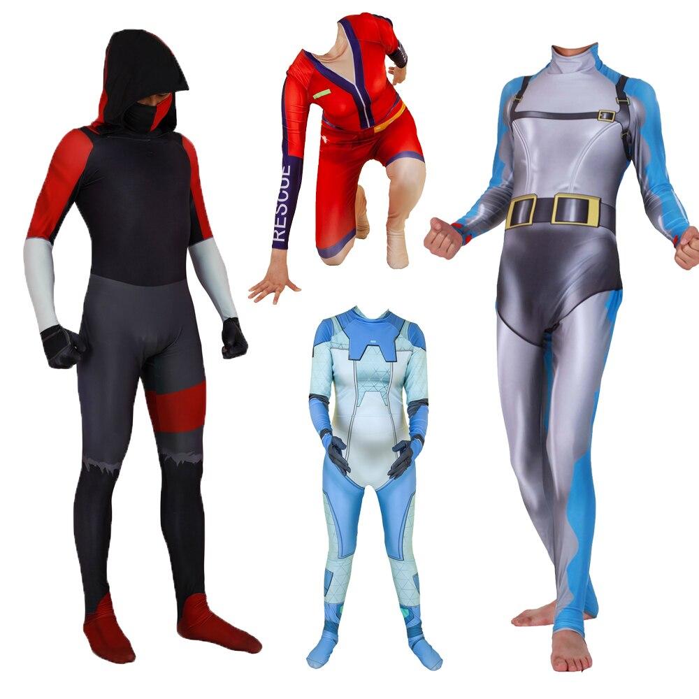 Game Fortniter Costume Ikonik CHOMP SR Sun Strider Gemini Zentai Bodysuit Suit Jumpsuits Halloween Costumes