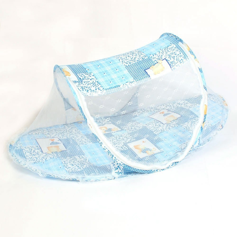 Foldable Toddler Kids Infant Baby Safty Mosquito Net Netting Crib Bed Playpen Play Tent Blue