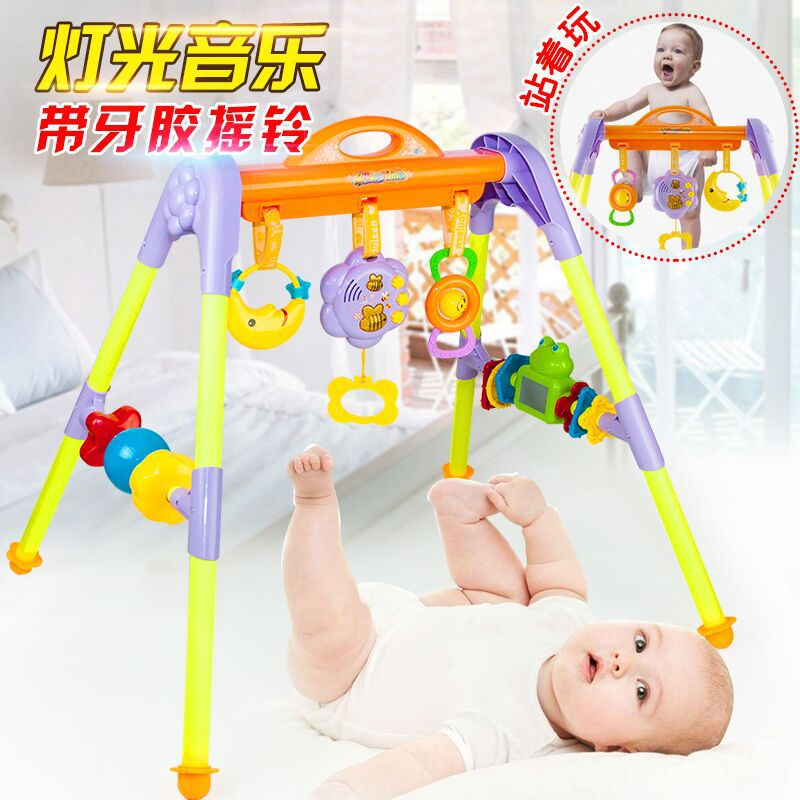 Youleen Infant Music Fitness Rack 0-2 Years Old Baby Early Childhood Toy Bed Bell Rattle Newborns Gift