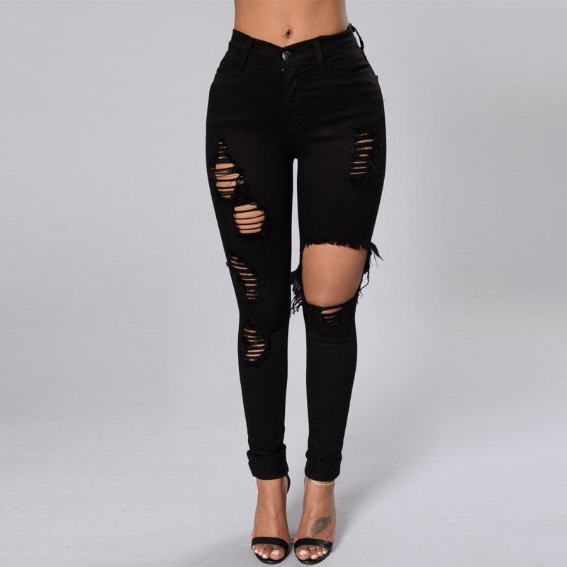 Womens Stretch Slim Fit Skinny Jeans Denim Look Pencil Pants Jeggings Trousers