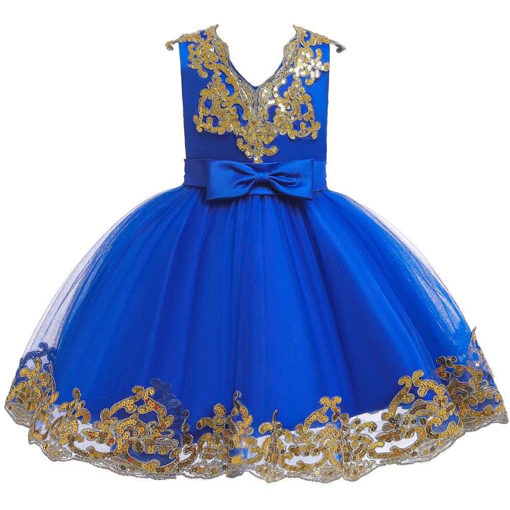 CHILDREN'S Dress Princess Dress Sequin Puffy Mesh Dress GIRL'S Gown Marriage Mesh Dress Dresses Of Bride Fellow Kids Stage Catwa
