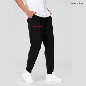 Mężczyźni stylowy list drukuj piekło było nudne chłopcy spodnie dresowe śmieszne Sarcasm sportowe długie spodnie Casual spodnie fitness pant-8984443 tanie i dobre opinie CHINA Na co dzień Elastyczny pas Mieszkanie Pełnej długości Poliester Mikrofibra REGULAR Printed Midweight Czesankowej