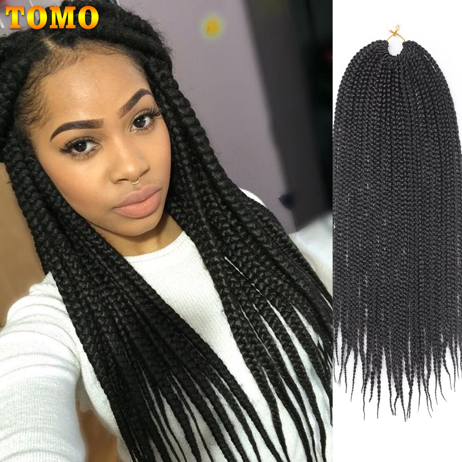 TOMO Synthetic Box Braids Crochet Hair 22Roots Ombre Braiding Hair Extension 14