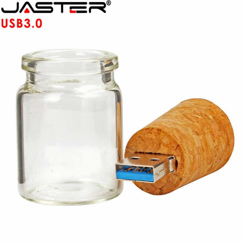 Garrafa de vidro pendrive 4 gb 8 gb 16 gb 32 gb 64 gb presente de casamento garrafa de vidro da movimentação do flash de usb de jaster usb 3.0 com cortiça