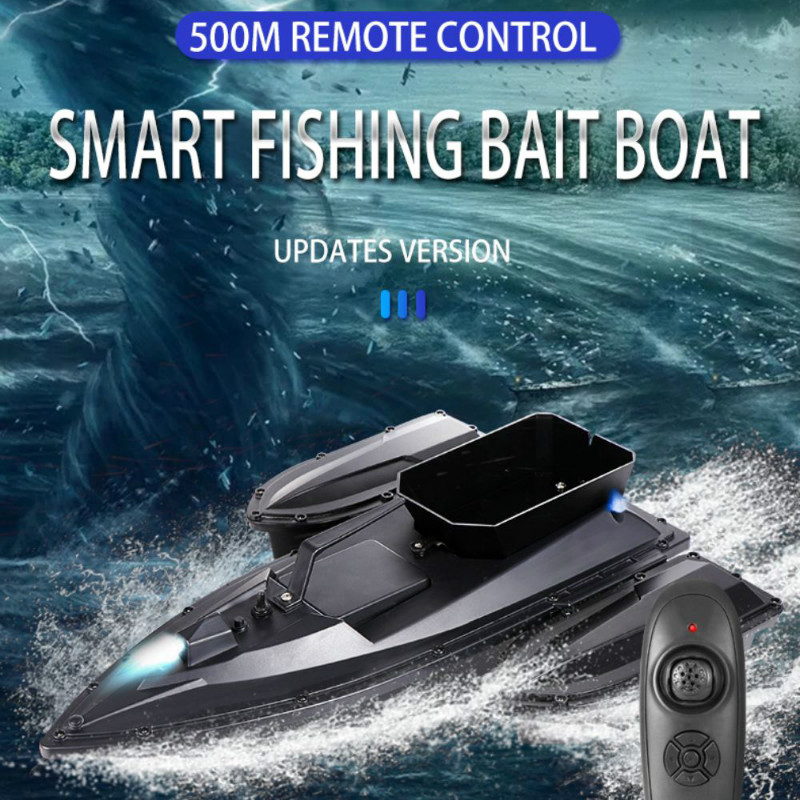 180mins 500m Rc Distacne Auto Rc Remote Control Fishing Bait Boat Speedboat Fish Finder Ship Boat With Eu Charger Us/uk Charger image