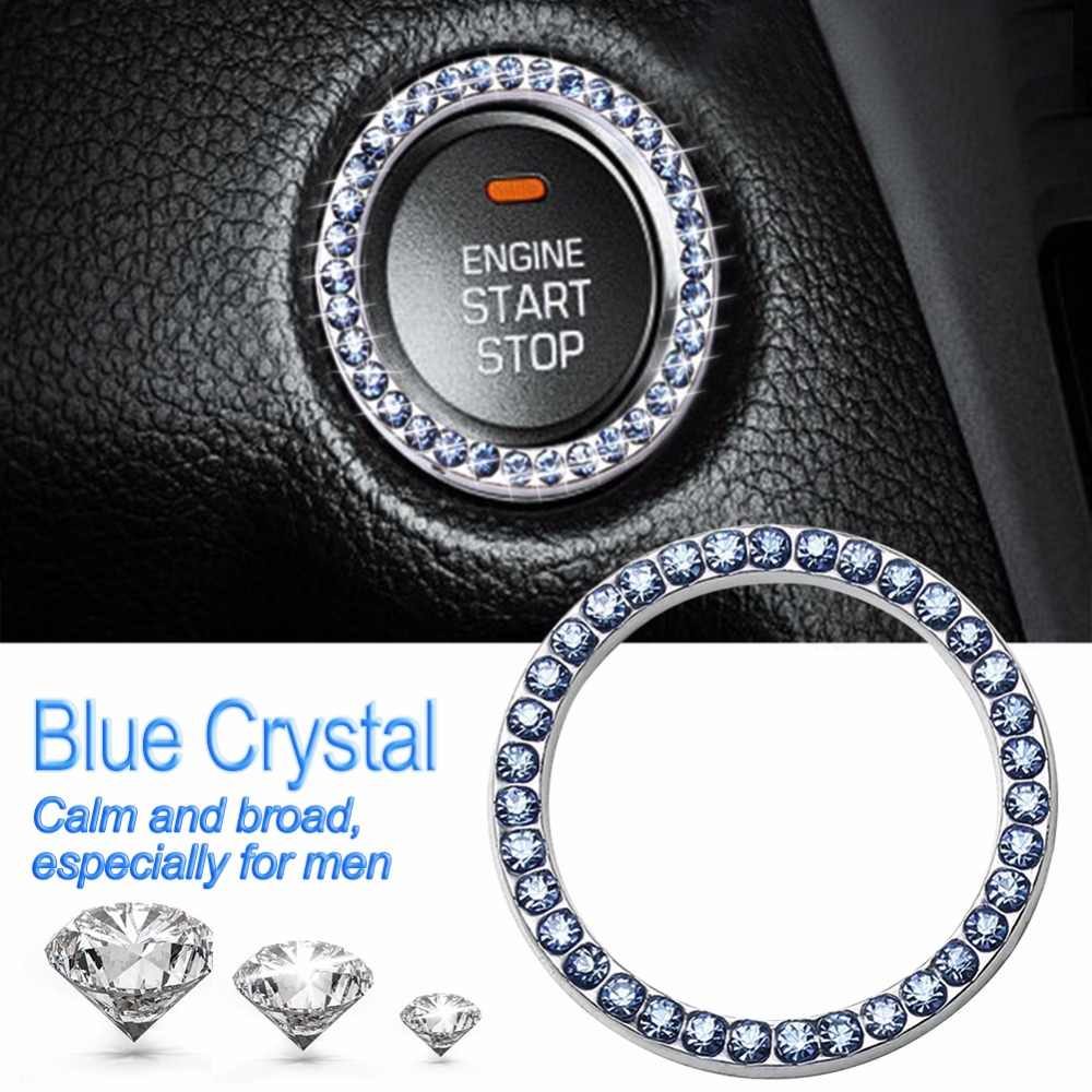 Car Start Switch Button Decorative Diamond Ring for Audi A4 A6 RS4 A5 A7 A8 S5 RS5 8T Q5 S5 S6