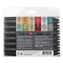 WINSOR&NEWTON 6/12 Colors  ProMarkers  Alcohol base ink Twin tips Professional Art Marker Pen Drawing  Supplies
