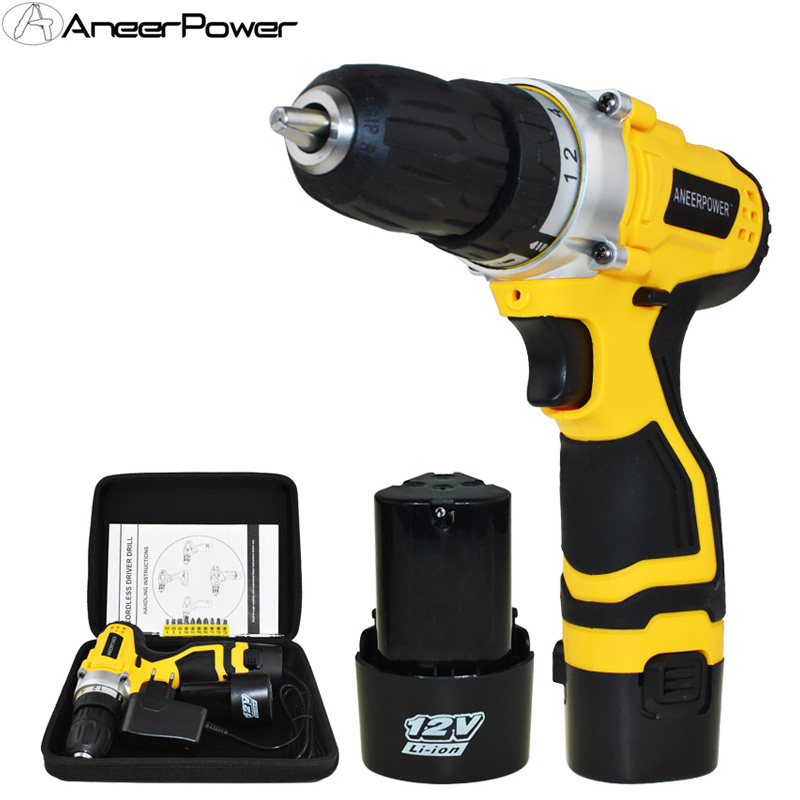 Mini Power Tools Electric Drill Cordless Drill 1.5Ah Li-ion Battery Capacity Drill Electric Screwdriver Batteries Screwdriver