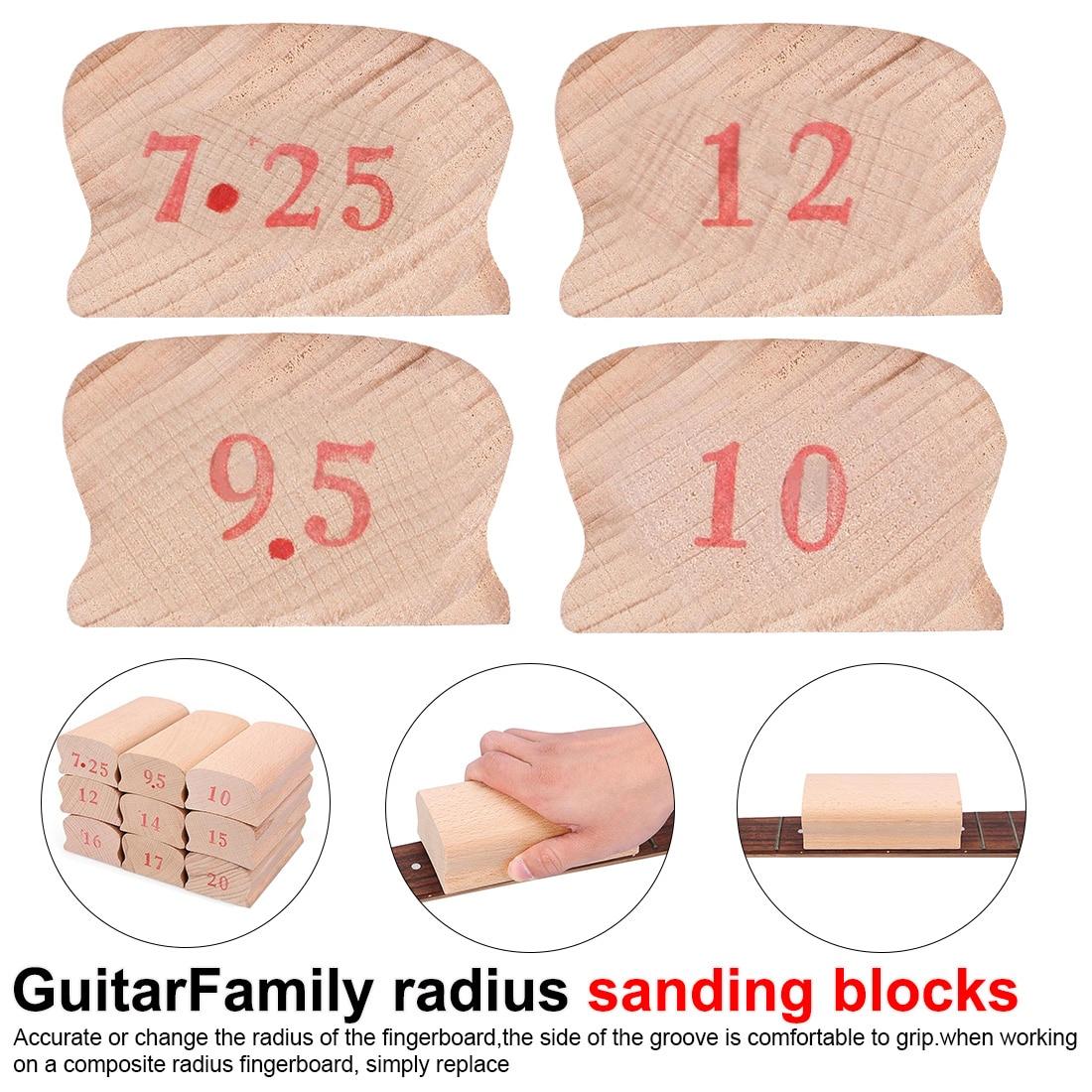 1 Piece Fingerboard Luthier Tool Fingerboard Arc Polishing Block  Radius Sanding Blocks For Guitar Bass Fret Leveling