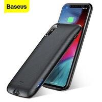 Funda para batería Baseus de 4000mAh  estuche de carga para batería  funda para cargador externo para iPhone X  fundas traseras para iPhone XS X Cajas de cargadores de batería     -