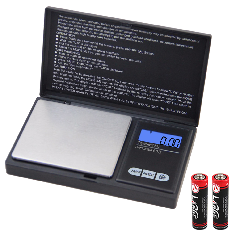 Digital Scale Mini Electronic Precise LCD Display Pocket Scale Gram Balance Weight For Kitchen Jewelry Drug 0.01g 0.1g 100g 200g